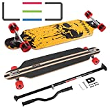 MARONAD Longboard Drop Through Race Cruiser ABEC-11 DRIP SKULL LED und der MARONAD STICK