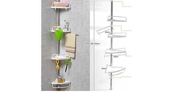 Keraiz® 4 stufiges teleskop duschregal fürs badezimmer eckablage