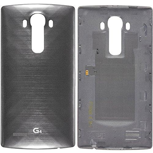 Original LG Akkudeckel silber für LG G4 H810 mit NFC-Antenne (Akkufachdeckel, Batterieabdeckung, Rückseite, Back-Cover) - ACQ88373051