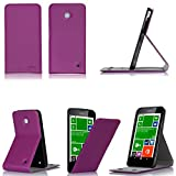 Tasche Leder Style Nokia Lumia 630 violett lila purple Dual Sim