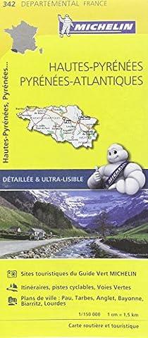 Pyrenees Michelin - Carte Hautes-Pyrénées, Pyrénées-Atlantiques