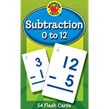 Subtraction 0 to 12 Learning Cards