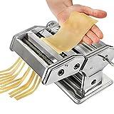 Sotech Máquina de Pasta con 6 configuraciones de espesor, de acero inoxidable Pasta Maker para el...
