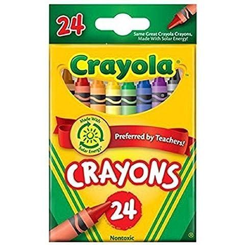 Binney & Smith Crayola(R) Standard Crayon Set, Tuck-Box, Assorted Colors, Box Of 24in. by Binney & Smith