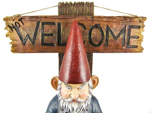 Go Away Garden Gnome un-welcome Garten Statue - 5
