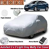 #8: Autofact Maruti New Baleno Car Accessories - Car Body Cover with Mirror Pockets (Triple Stitched/Bottom Fully Elastic/Light Grey 2 X 2 Matty)