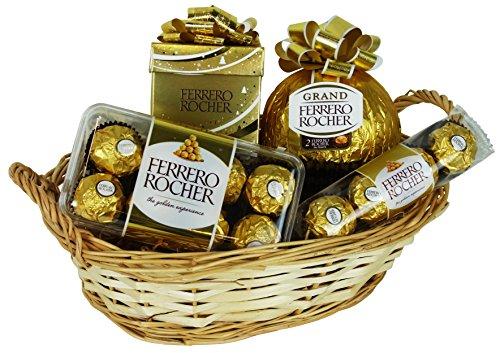 Cesta de Navidad con Ferrero Rocher (4 piezas) width=