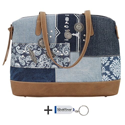 banadana-from-american-west-etop-handle-bags-damen-henkeltasche-one-size-blau-multi-indigo-grosse-on