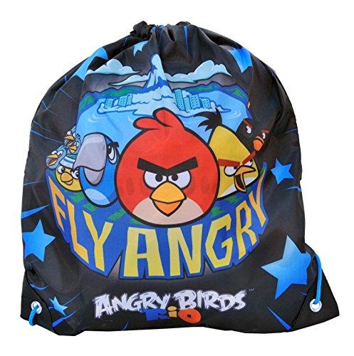 SACCA Angry Birds Zaino borsa Sacchetto di asilo snack Sack Sacca ginnastica borsa per le scarpe [003]