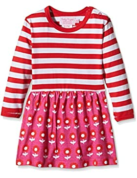 Toby Tiger Mädchen Kleid Long Sleeve Dot Flower Twirl Dress
