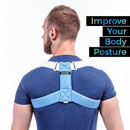 Goodlex | Corrector de Postura de Espalda y Hombro Ajustable y Acolchonado Para Hombres y Mujeres | Alinee su Espalda, Elimine los Hombros Caídos y el Encorve, Alivie su Molestia y Prevenga una Lesión