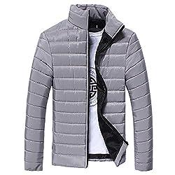 Herren Warme Winterjacke Daunenjacke Basic Down Jacket Leicht Wintermantel Gefüttert Daunenmantel Übergangsjacke Steppjacke Slim Outwear Mantel Winter Männer Herrenjacke von Innerternet