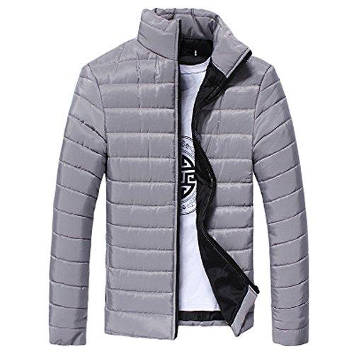 Preisvergleich Produktbild TianWlio Hoodie Winter Herren Herbst Männer Jungen Warme Stehkragen Slim Winter Zip Mantel Outwear Jacken Grau M