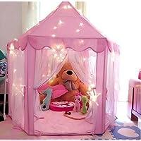 Castello della principessa Play Tent per i bambini, Playhouse per bambini coperti con stent PVC rigido durevole Facile pieghevole, un regalo adorabile per tutte le ragazze