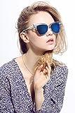 Diamond Candy Occhiali da Sole Donna,Sexy e Alla Moda ,Polarizzato,UV protezione,UV400 colore Blu