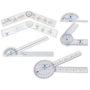 Winkelmesser | Gelenkmesser | Goniometer aus Kunststoff, 6ER SET, mit verschiedenen Längen