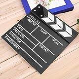 Legno 20x20x1.5cm Regista Video Scene Clapperboard TV Film Clapper Board Professionale Film Slate Cut Prop (Colore: Nero)