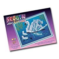 KSG Sequin Art and Beads Swans