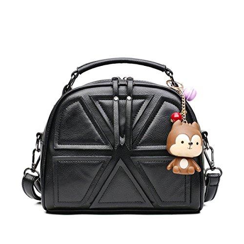 Frauen Handtaschen Splicing Schultertasche Handtasche Mode Messenger Bag,Gray (Hobo Bag Klassische)