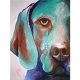Hochwertige Abstract Animal handgemalt modernes Stil Hund 's Eye Öl Leinwand Wall Dekorative Home Artwork, canvas, 24x36inch(60x90cm)
