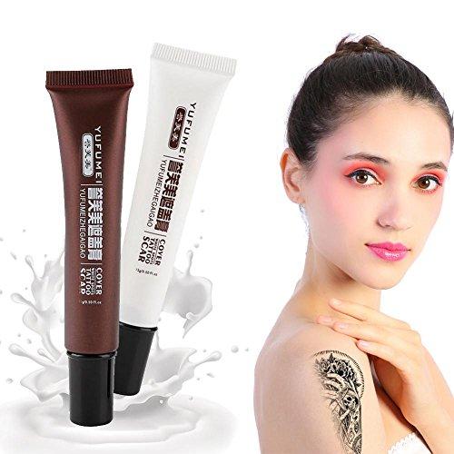 Concealer, professionelle Narbe Tattoo Concealer Vitiligo Versteck Flecken Birthmarks Make-up Abdeckung Creme Set (Make-up-abdeckung)
