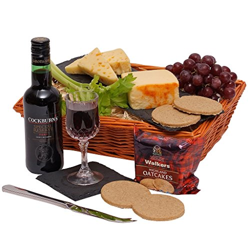 Clearwater Hampers Christmas Quarter Port and Cheese Hamper - Xmas Gift Baskets amp; Port Hampers