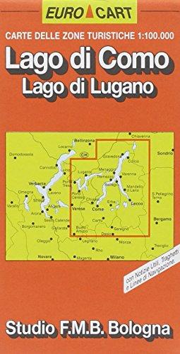 Lago di Como. Lago di Lugano 1:100.000 (Euro Cart)