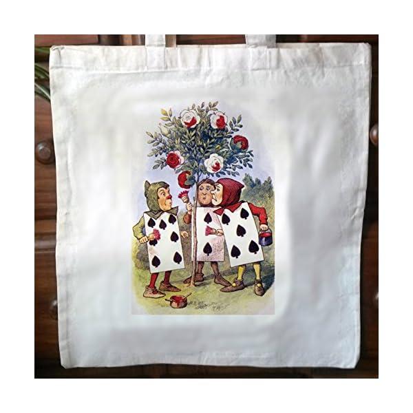 Alice In Wonderland eco friendly Cotton vintage Tote Bag Shopper Bag 01 - handmade-bags