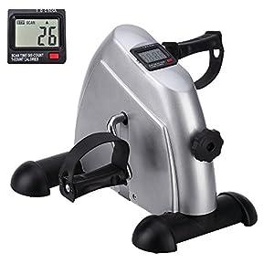 Mini-Bike Heimtrainer Pedaltrainer Bewegungstrainer Arm und Beintrainer mit LCD-Monitor Einstellbarer Widerstand Zuhause für Senioren und Junge
