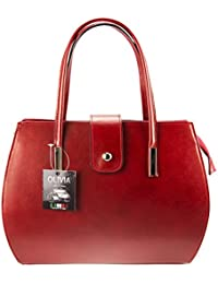 Olivia - Sac à main femme cuir MILANO 35x27x14 cm Sac mode