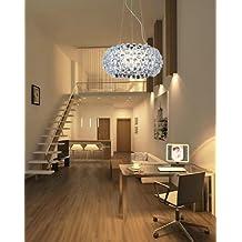 Hengda® 12W LED Kristall Kronleuchter Modern NEST Acryl Esszimmer Hängelampe  Mit Farbwechselfunktion