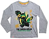 Lego Ninjago Kollektion 2017 Langarmshirt 98 104 110 116 122 128 134 140 Shirt Jungen Neu Top Grau (116/122, Grau)