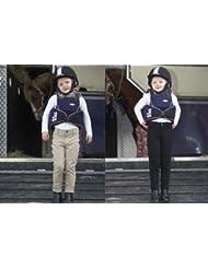 Toggi 'Show Bague' Pantalon d'équitation pour enfant avec basanes, coloris: beige, noir ou bleu foncé, grö? E: 76/92/164