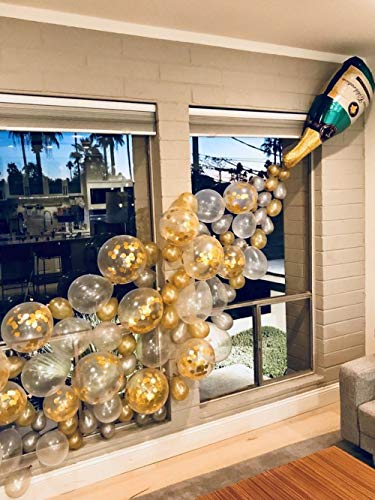 Champagne Bottle Balloons, Confetti Balloons, Latex Balloons 40PCS Party Set