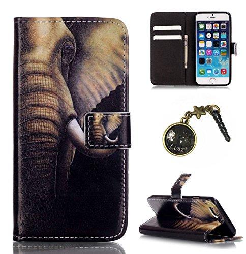 PU Silikon Schutzhülle Handyhülle Painted pc case cover hülle Handy-Fall-Haut Shell Abdeckungen für Smartphone Apple iPhone 6 6S Plus (5.5 Zoll)+Staubstecker (T6) 6
