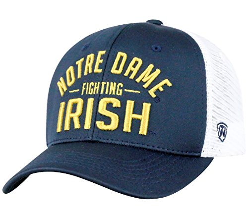 "Notre Dame Fighting Irish NCAA Top of the World ""Trainer"" Adjustable Mesh Back Hat"