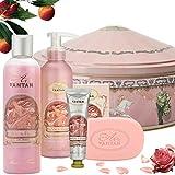 Französisches Beauty Pflege Geschenkbox aus Metall im Vintage Rose – Un Air d'Antan Exclusiv...