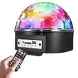 SOLMORE LED Lichteffekte Discokugel mit Fernbedienung Partylicht Discolicht Projektor Beleuchtung für Disco Party Kindergeburtstag Wohnzimmer Kinder Karaoke Partydeko Kindergeburtstag Geschenk