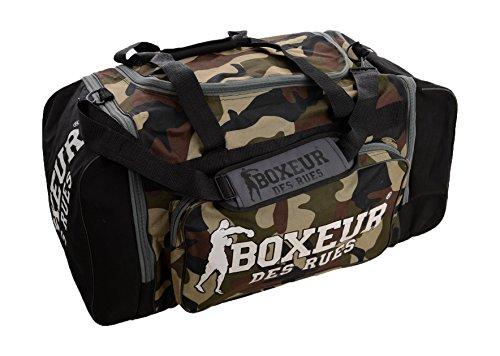 Boxeur Des Rues Fight Activewear Borsa per la Palestra con Tracolla Regolabile, Camouflage, Taglia Unica