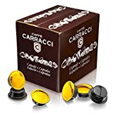 Caffè Carracci, 100 Capsules Compatibles Lavazza A Modo Mio, Milano 100% Arabica