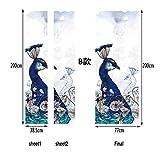 MT252 3D Türaufkleber Entfernbar Selbstklebend Tapete Tür-Wandbilder Persönlichkeit Haus Dekoration 77 X 200 cm (Pfau),B