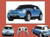 Mini Cooper 1:24 ferngesteuertes Auto RC Modellauto Blau Kultauto