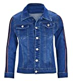 Best Winter Coats For Women - Mitra Creations Stylish Racing Striped Design Deim Jacket Review