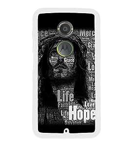 Fuson Designer Back Case Cover for Motorola Moto X2 :: Motorola Moto X (2nd Gen) (Jesus Church Etymology Emmanuel Christ)