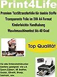 P4L - 10 Blatt T-Shirt Folie Transferfolie Textilfolie Transferpapier WEIß für dunkle und farbige Stoffe