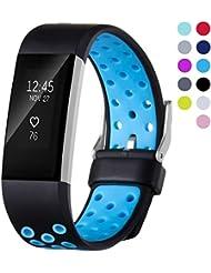 Fitbit Charge 2 Correa, Josmile Soft Clásico Sprot correas Silicona banda de reemplazo para Fitbit Charge 2