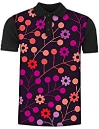 Snoogg Seamless Pattern with Leaf Copy That Square to The Side and Youll Get Seaml Men's Polo T-Shirt with Collar Stylish Half Sleeve (Cotton,Polyester)