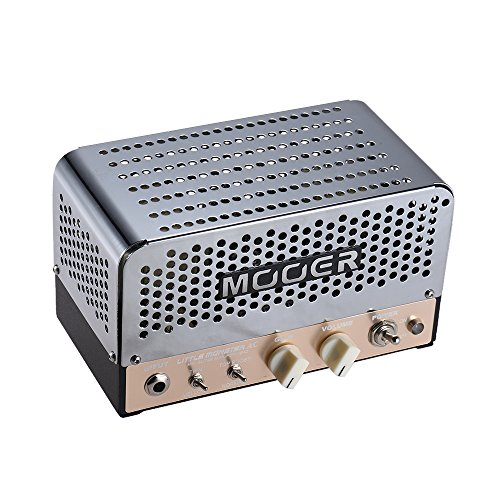Muslady MOOER LITTLE MONSTER AC Mini 5W Amplificado de Guitarra con Cabeza  ECC83 (12AX7) EL84 (6BQ5) para Altavoz de 8Ω / 16Ω con Bolsa de Transporte