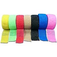 LisaCare farbige, kohäsive, elastische Fixierbinden - 2,5 cm x 5 m gedehnt - unsortierte Farben 4er-Set preisvergleich bei billige-tabletten.eu