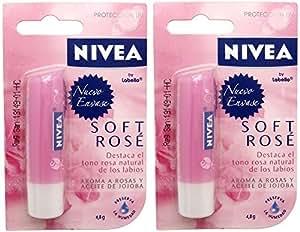 Labello 85022 Lippenpflegestift Soft Rosé im Doppelpack, 5,5 ml